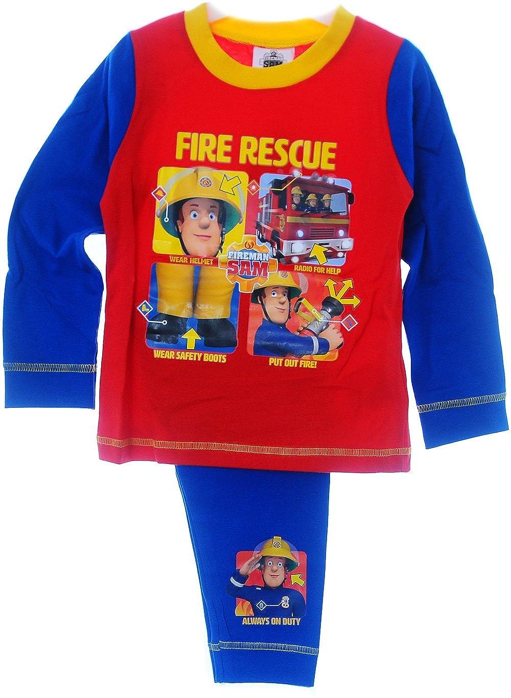 Schlafanzug Baby Kinder Pyjama 86 92 98 104 110 Fireman Sam Nachtwäsche