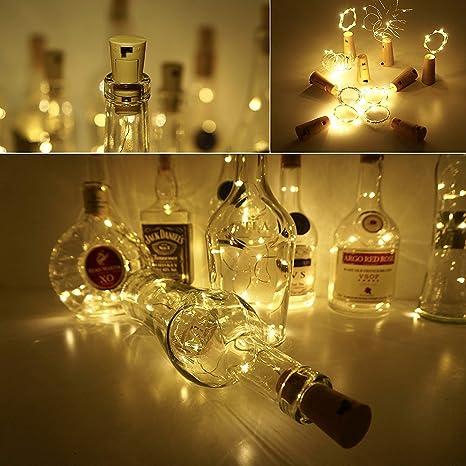 Trend Ario LED Botella Luz, 6 pieza guirnalda de luces LED con batería, botellas