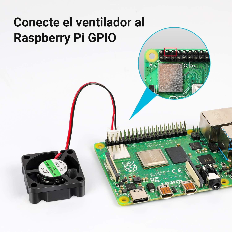 LABISTS Caja para Raspberry Pi 4 Modelo B, Raspberry Pi 4B Caja con Ventilador, Disipadores de Calor, Caja Negra ...