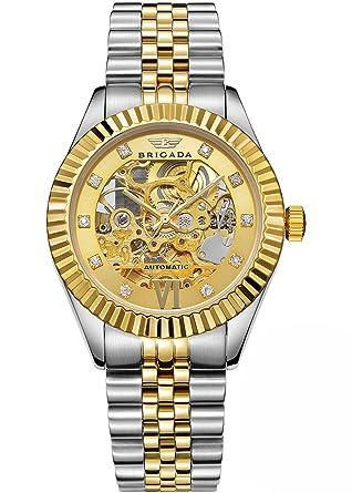 Brigada Swiss Brand Nice Classic Luxury Gold Hollow Mechanical Automatic Men S Watch