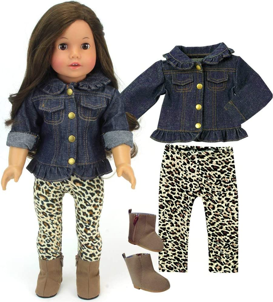 Pink Peace print blouse jeans and bandanna created for 18 dolls
