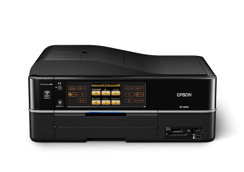49b36e17a8 Amazon | EPSON Colorio インクジェット複合機 EP-903A 有線・無線LAN標準搭載 カンタンLEDナビ搭載  前面二段給紙カセット 自動両面印刷標準 6色染料インク | エプソン ...