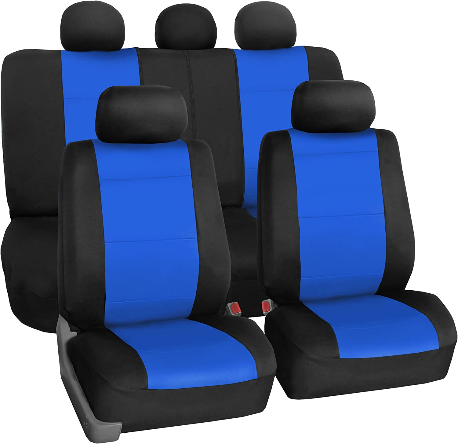 Neoprene Waterproof Airbag Compatible and Split Bench Blue FH Group FB083BLUE115 Full Set Seat Cover