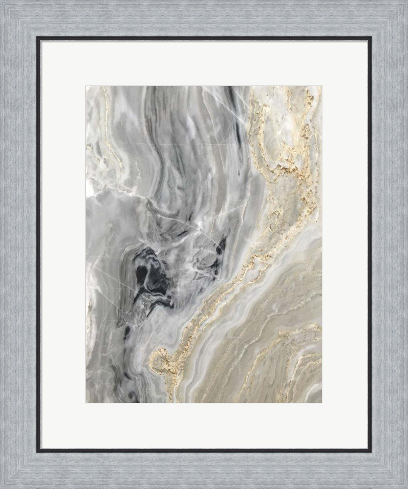 Quartz Top II by Susan Bryant Framed Art Print Wall Picture, Flat Silver Frame, 20 x 24 inches by Great Art Now