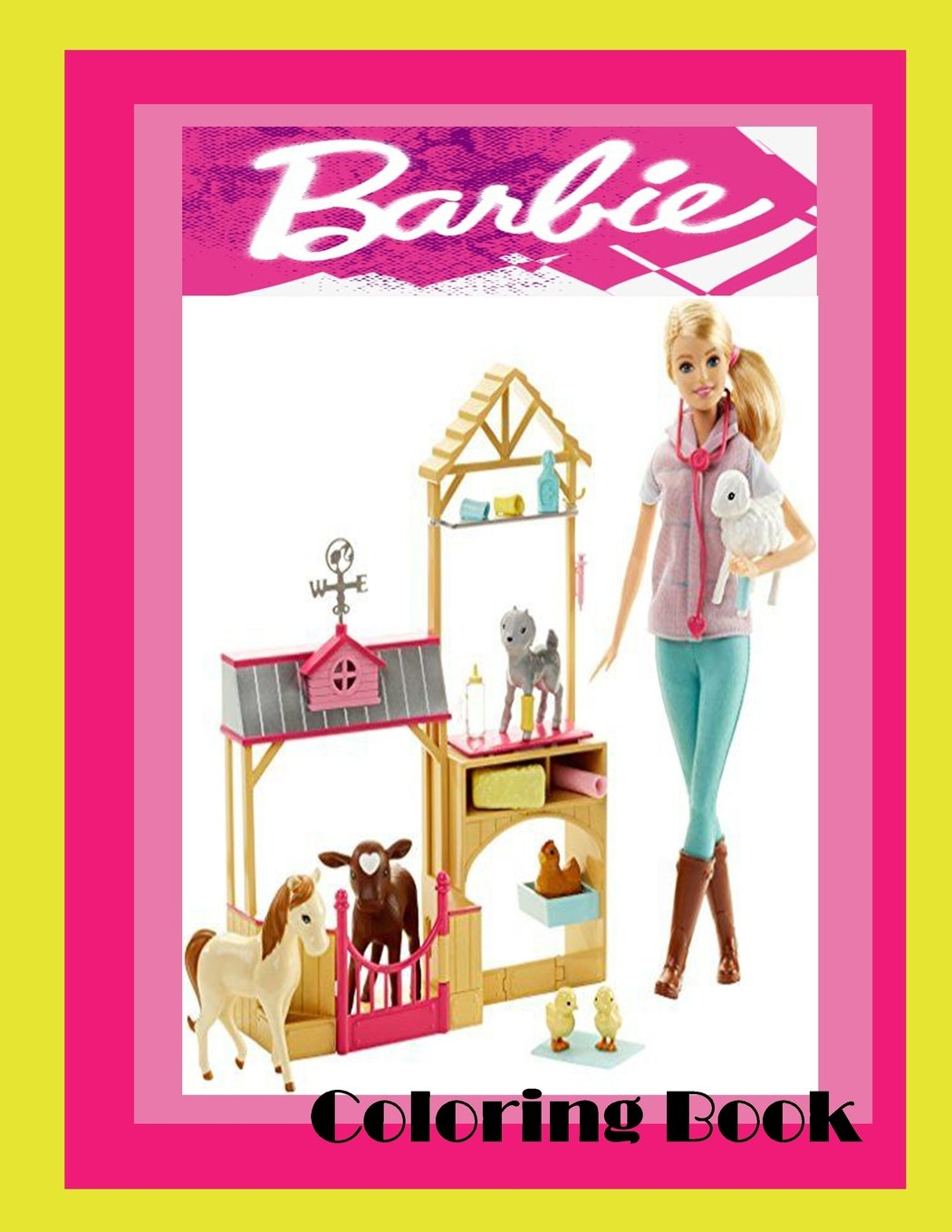Download Barbie Coloring book ( Theme with Pets For Girls / Kids Teens ): Barbie coloring book for kids ,thee with pets pdf
