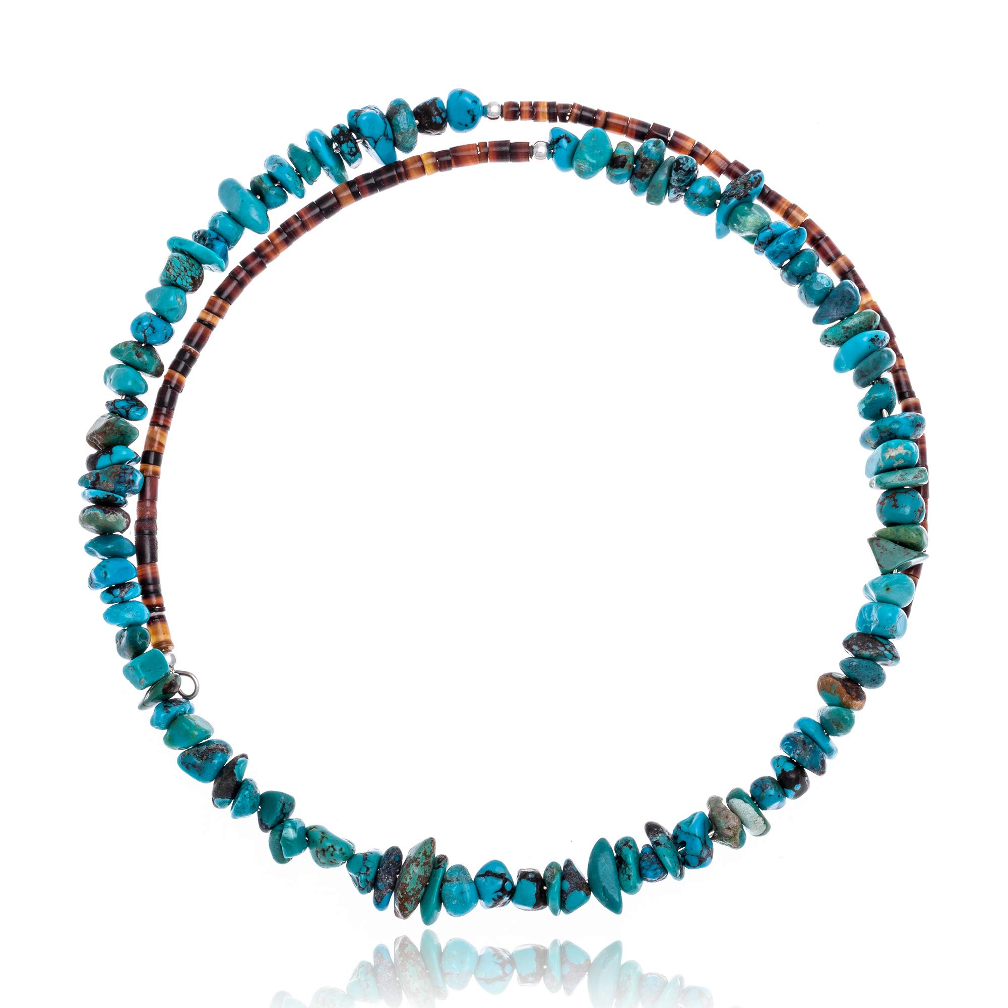 Native-Bay $100Tag Genuine Stones Certified Navajo Adjustable Choker Wrap Necklace Chain 255555 Made by Loma Siiva