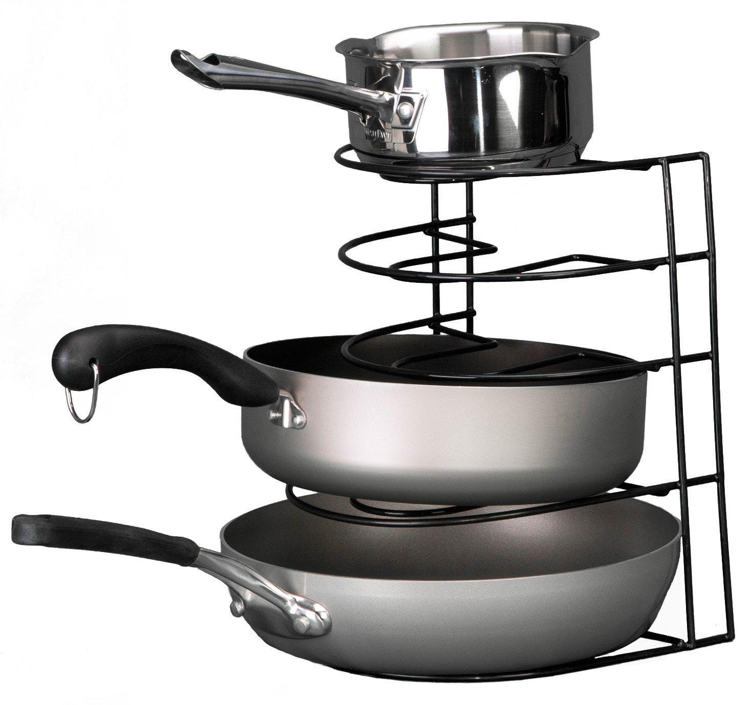 Lid Maid Pot Pan Lid Organizer: Cookware Storage Holder Fry Pan Organizer Kitchen Cabinet