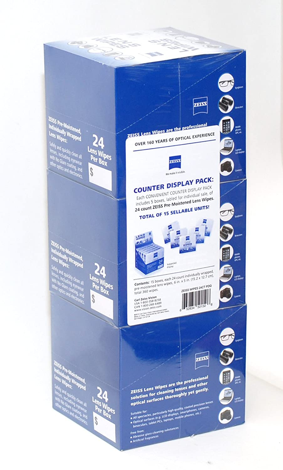 Zeiss lens wipes box of 24