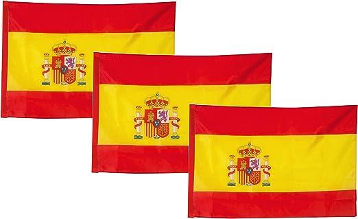 Set 3 Bandera España Grande para La Decoración Deportiva Española ...