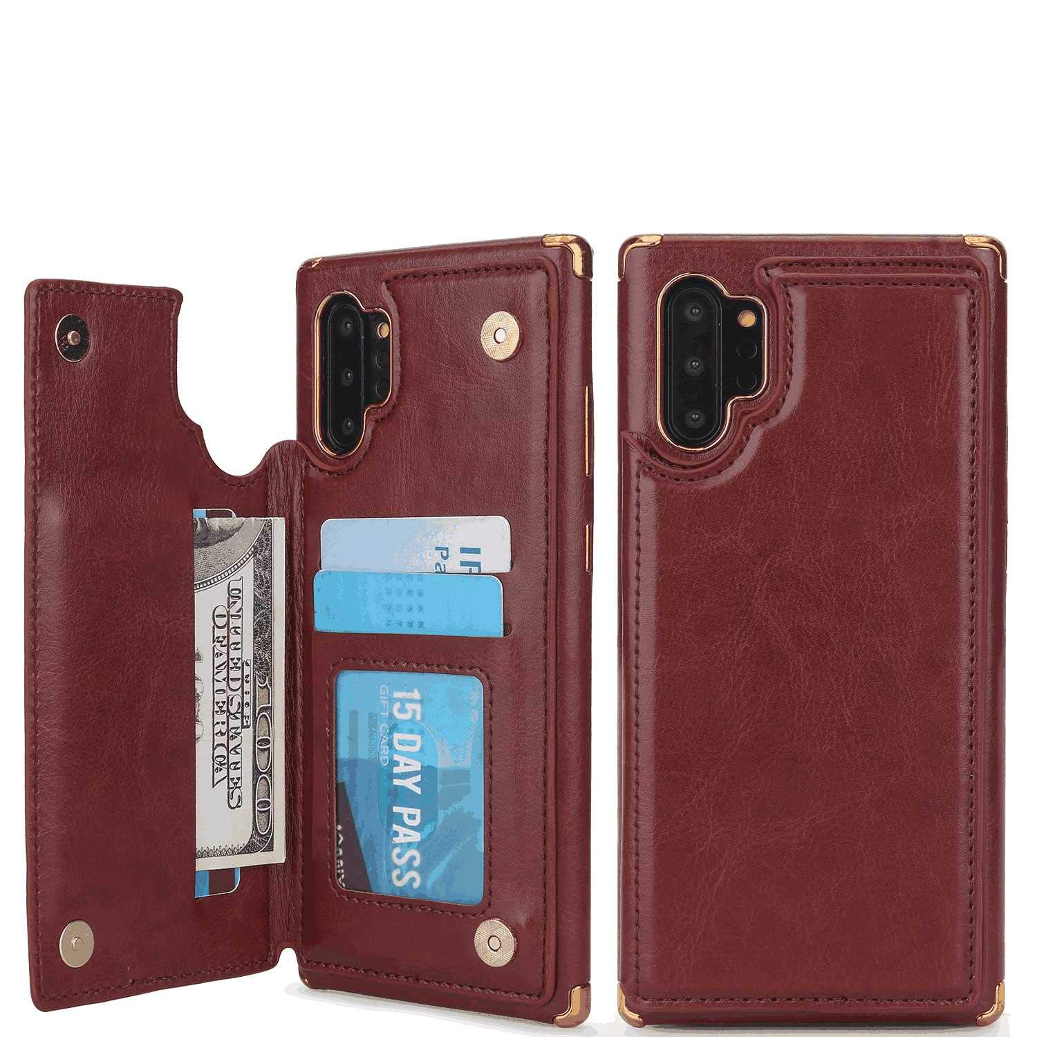 Cover for iPhone 8 Leather Extra-Shockproof Business Wallet case Card Holders Kickstand with Free Waterproof-Bag Delicate iPhone 8 Flip Case