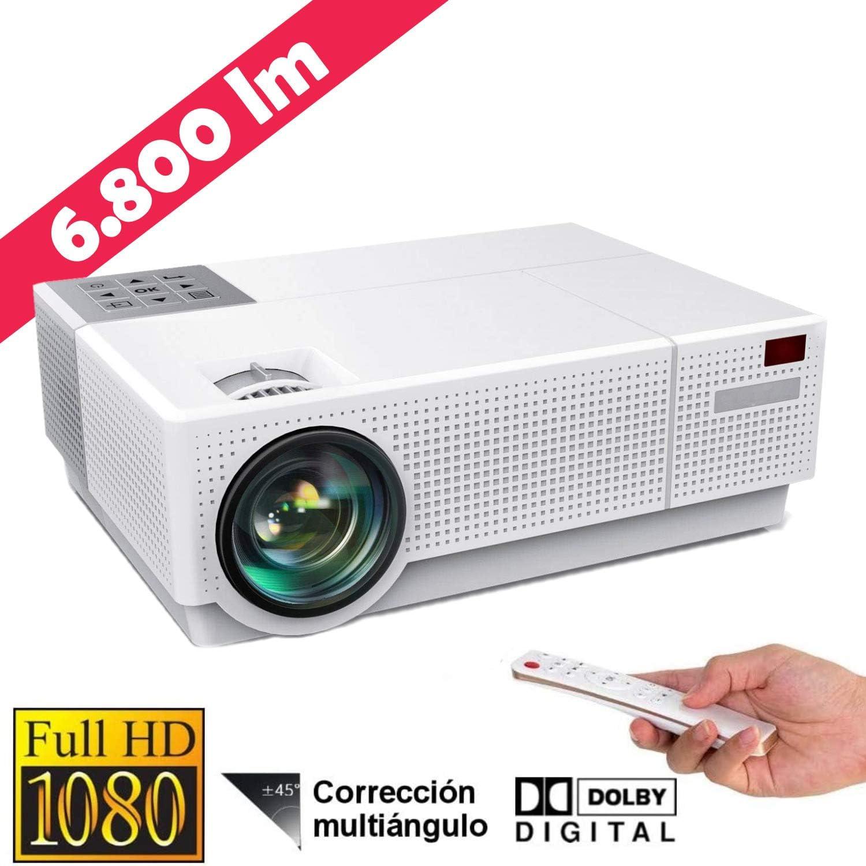 Luximagen FUHD230 Full HD 1080p Nativo 6.800 l/úmenes Dolby AC3 Correcci/ón Digital 4D hasta 300 LED Cine en casa Doble HDMI USB MKV Correcci/ón Horizontal Proyector 4K Compatible