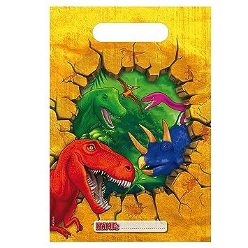 6 bolsas de fiesta T-Rex/dinosaurios para fiestas y ...
