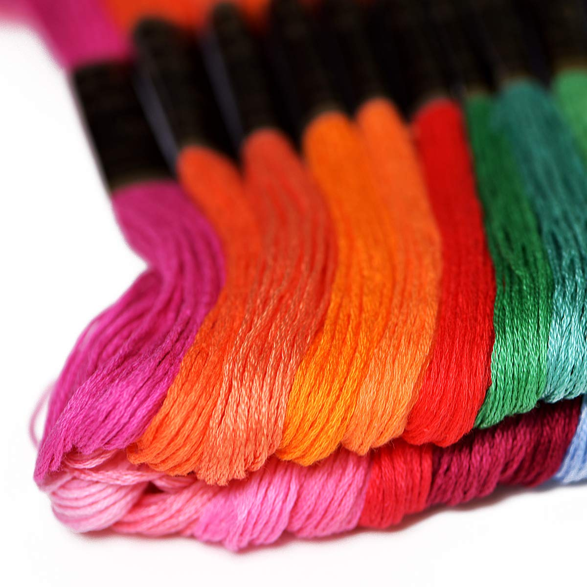 50 Skeins Per Pack /& Free Set of Embroidery Needles and Floss Bobbins Premium Rainbow Color Embroidery Floss with DMC Color Number-Cross Stitch Threads-Friendship Bracelets Floss-Crafts Floss