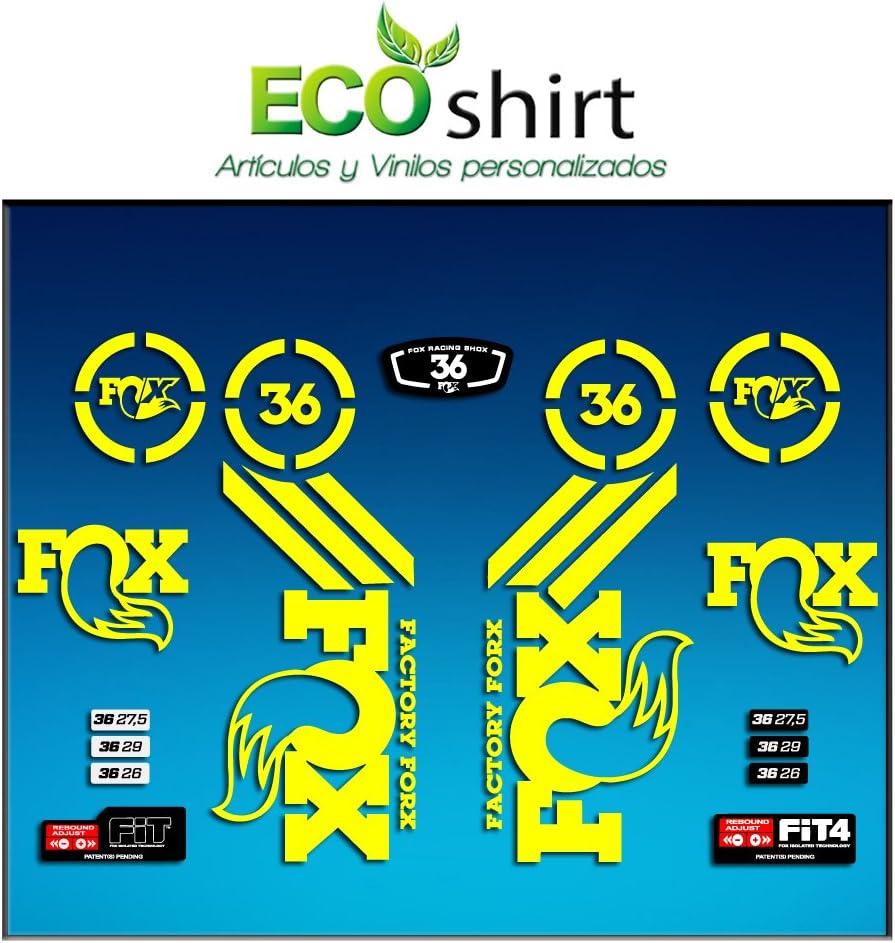 White Ecoshirt RK-AQ50-W2YD Stickers Sticker Fork Fox 36 Am60 Aufkleber Decals Autocollants Adesivi Forcela Gabel Fourche