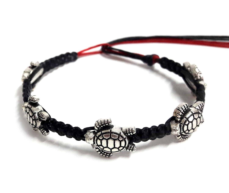Bracelet or Anklet Sea Turtle steel Hemp Bracelet Hawaiian Sea Turtle Bracelet