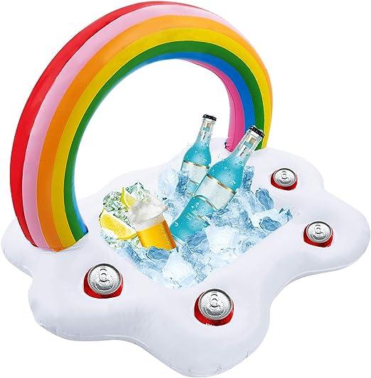 Amazon.com: iMissiu - Bandeja inflable para servir bebidas ...