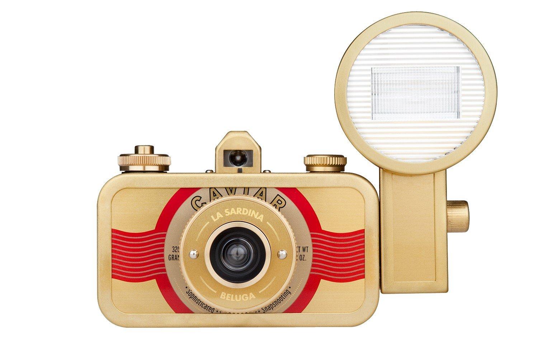 Lomography La Sardina Compact film camera 35 mm Oro - Cá mara (Compact film camera, 35 mm, 0,6 m, Mecá nico, 1/100, Oro) Mecánico SP400BL SP400BL_BL