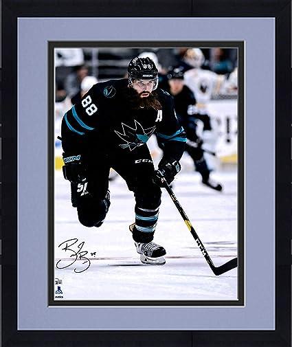 huge discount 1fd21 72a0f Framed Brent Burns San Jose Sharks Autographed 16