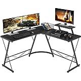 "Mr IRONSTONE L-Shaped Desk 50.8"" Computer Corner Desk, Home Gaming Desk, Office Writing Workstation with Large Monitor…"