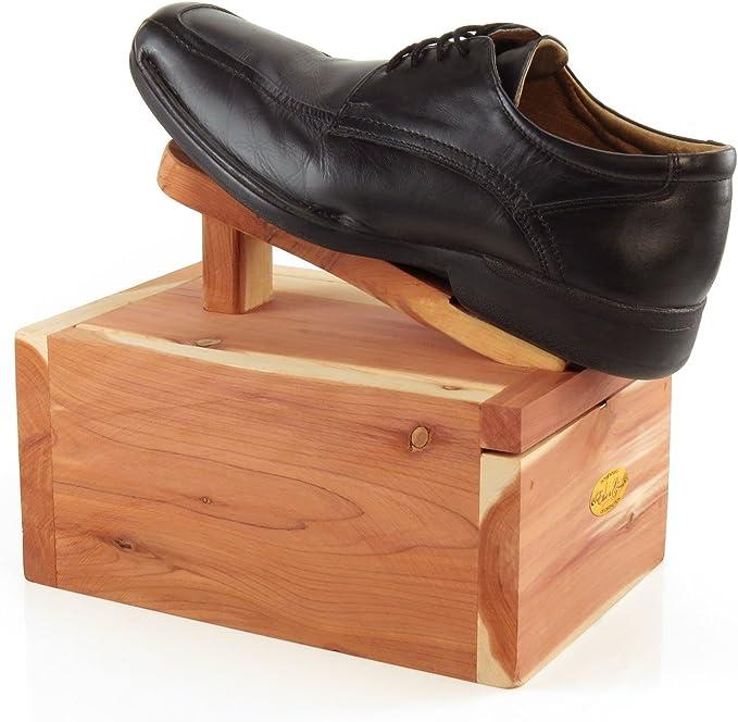 Hangerworld Caja Limpia Zapatos con Reposapiés en Madera de Cedro Antipolilla con Set de Limpieza: Amazon.es: Deportes y aire libre