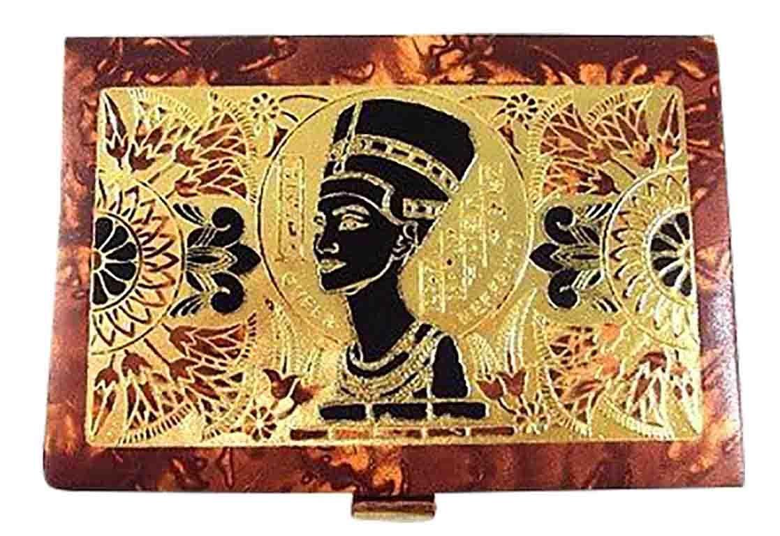 Jewelry Box LG Trinket Egyptian hand made Genuine Leather Horus Offering Pharaoh