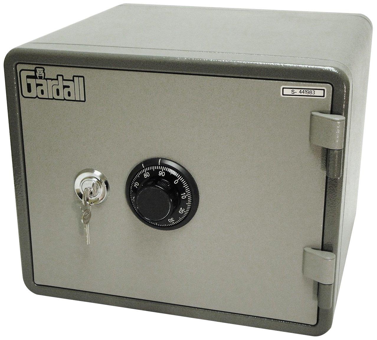 Gardall MS912-G-CK One Hour Horizontal Microwave Style Fire Safe w/ Key & Combination Lock Grey