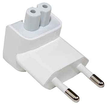 e-port24® EU AC Plug Enchufe Adaptador Cargador Duckhead 2 Pin Power Plug Adapter Compatible con Apple Macbook iPhone iPod iPad Mac