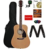 Fender FA-115 Acoustic Guitar Bundle with Gig Bag