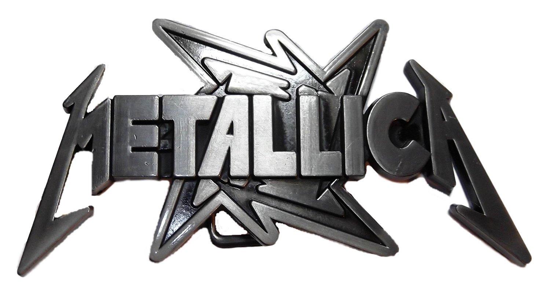 Metallica Ninja Star Logo Pewter Finish Belt Buckle