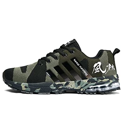 Fitness & Body Building Plus Size Men Running Shoes Breathable Man Shoes Sport Lace Up Camo Sneakers Rubber Sole Outdoor Trainers For Male 10 Office & School Supplies