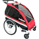 Weehoo WeeGo Buggy Bicycle Trailer and Jogger Red/Black, One Size