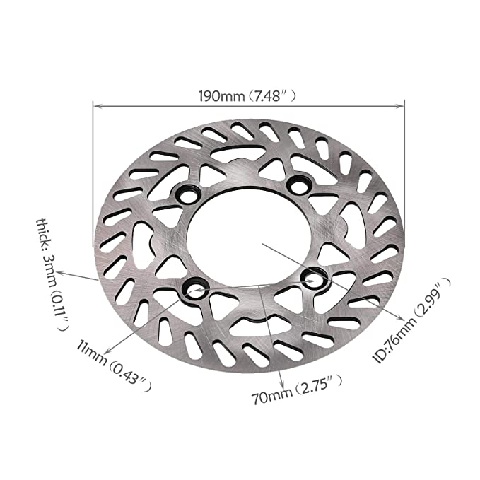 Amazon Com Zxtdr 190mm Rear Brake Disc Rotor For Dirt Pit Bike