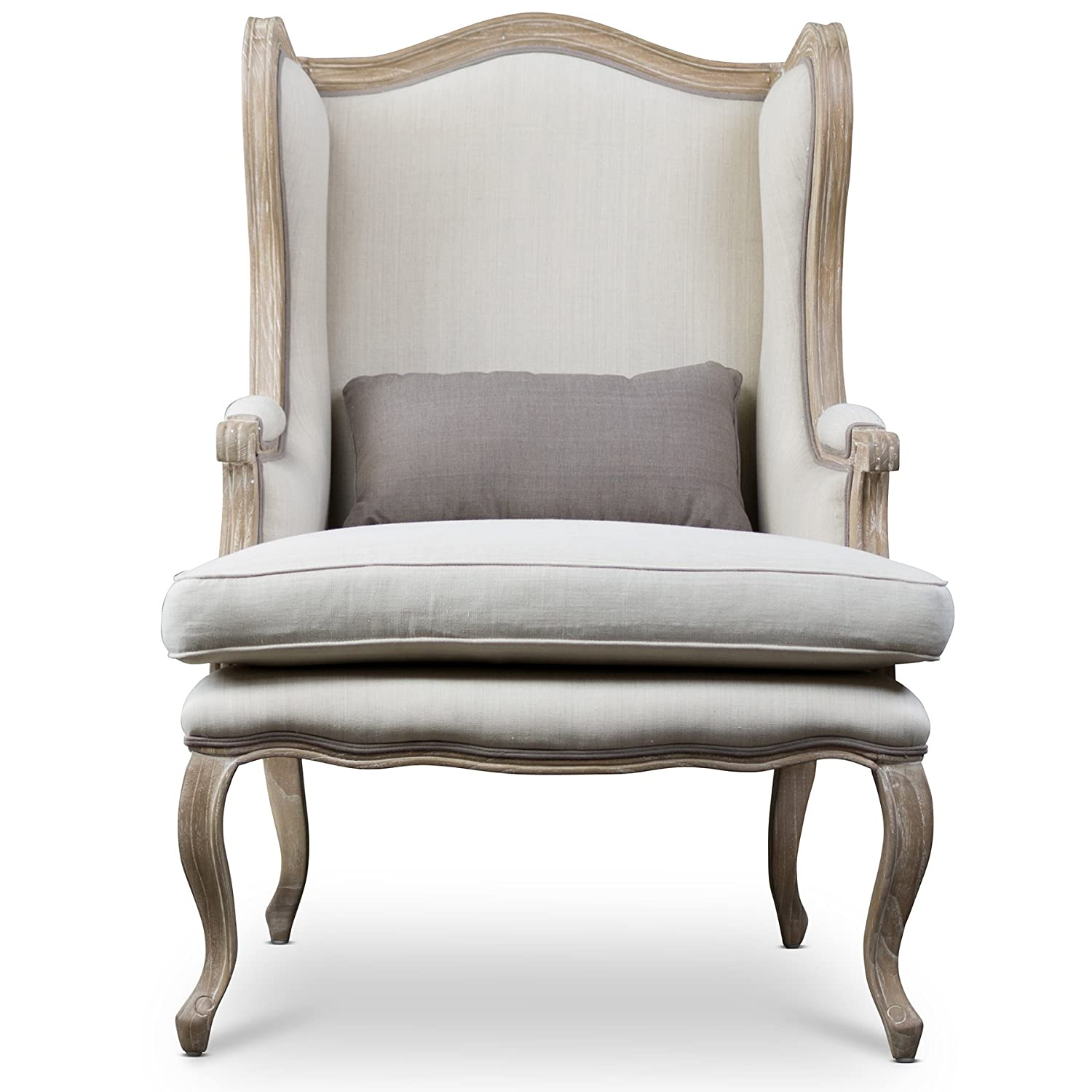 Baxton Studio French Country Wing Chair