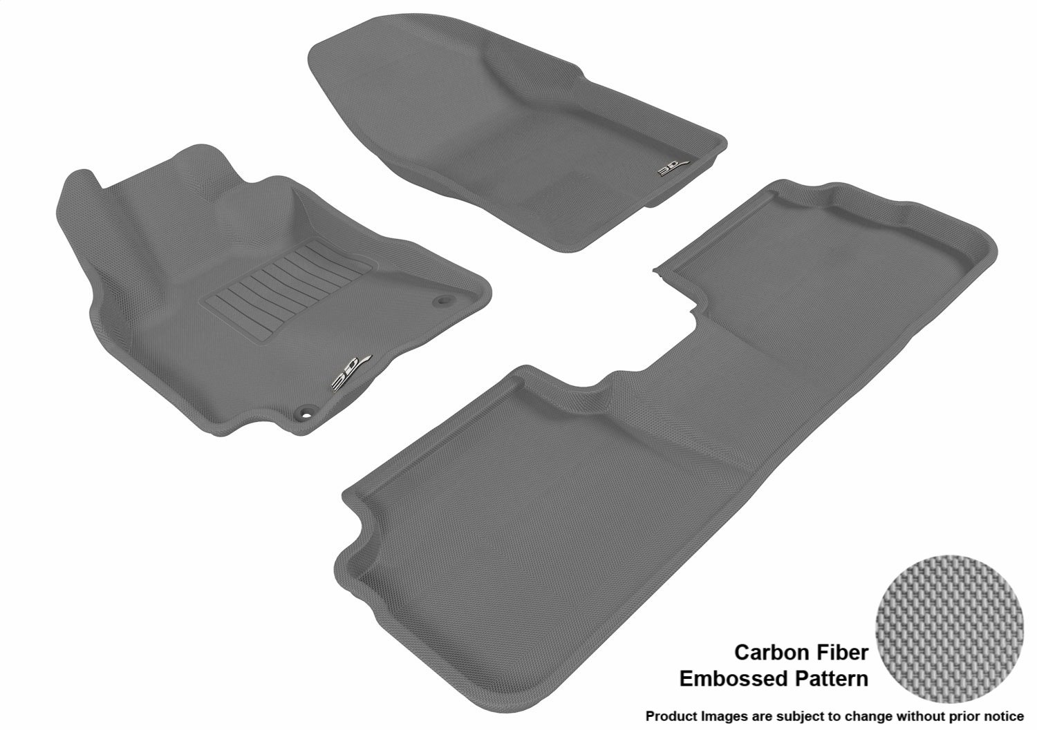 Tan Kagu Rubber 3D MAXpider L1TY05921502 Second Row Custom Fit All-Weather Floor Mat for Select Toyota Corolla Models