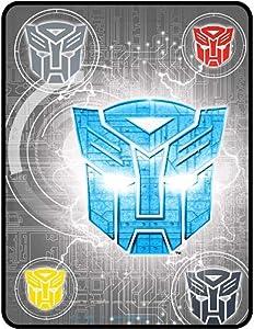 """Kids Warehouse Transformers Steel Heroes Plush Throw Blanket- 46"""" by 60"""""""