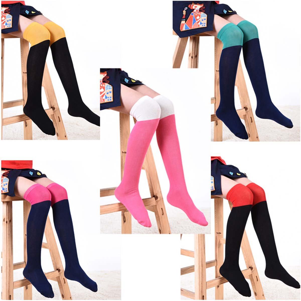 fygood–Lote de 5pares pantimedias calcetines altas niño Niña Multicolors longitud: 48cm