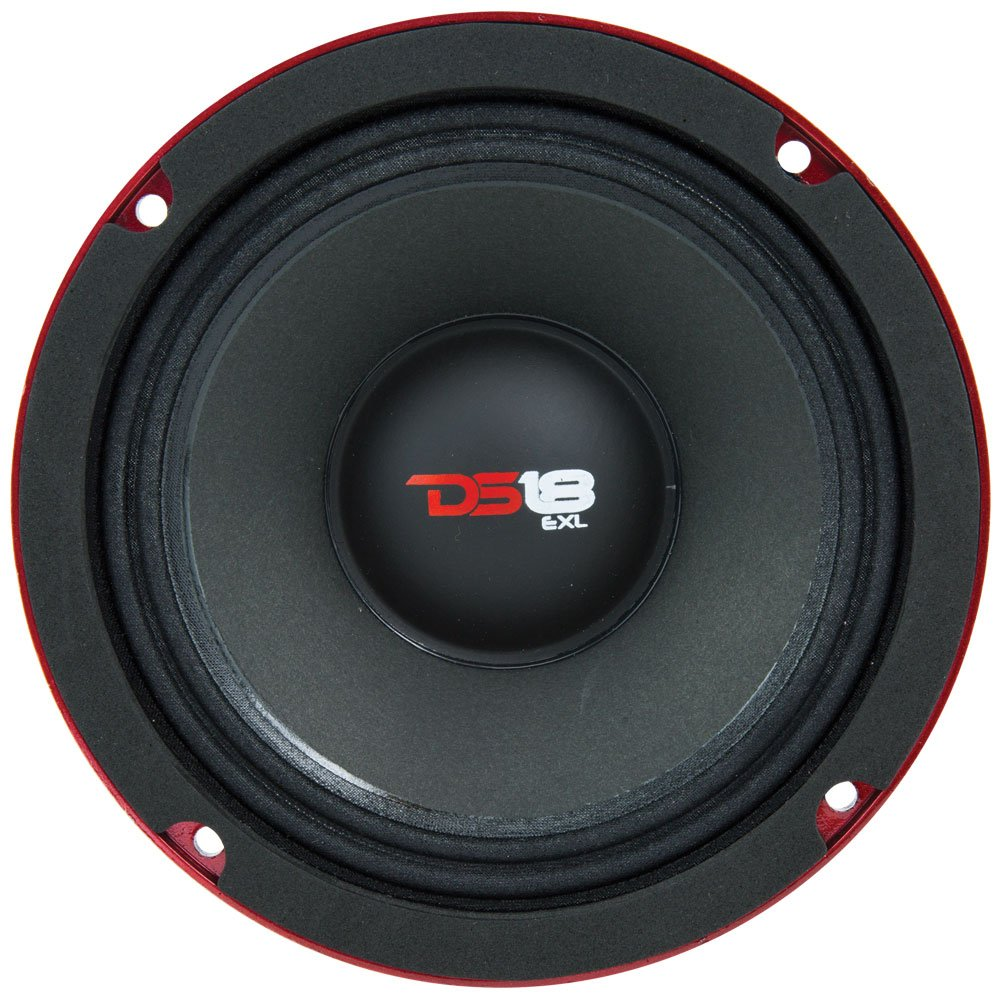 DS18 PRO-EXL68 Loudspeaker - 6.5'', Midrange, Red Aluminum Bullet, 600W Max, 300W RMS, 8 Ohms, Ferrite Magnet - For the Peple Who Live and Breathe Car Audio (1 Speaker) by DS18 (Image #3)