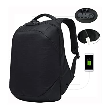 8cd10286634 Backpack with Password Lock In Cipher Anti Theft Backpack with USB Charging  Port Water Resistant Laptop Backpack Lightweight Business Casual Backpack  Travel ...
