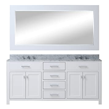 Water Creation Madison 60wb 60 Inch Solid White Double Sink Bathroom