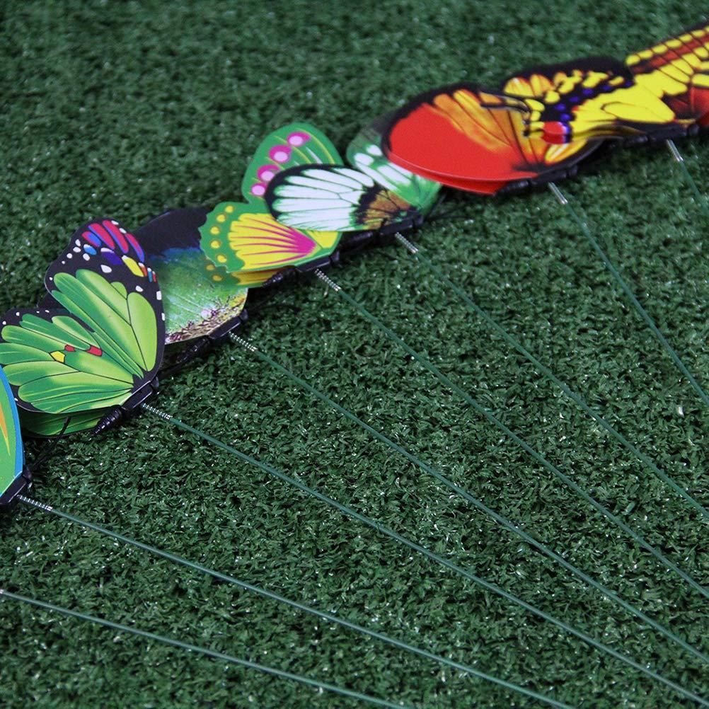 zuf/ällige Farbe Toyvian Gartenstecker Dekostecker Garten Schmetterlinge Stangen Stakes f/ür Terrasse Rasen Blumentopf Stecker Pflanzen und Blumen 24 St/ück