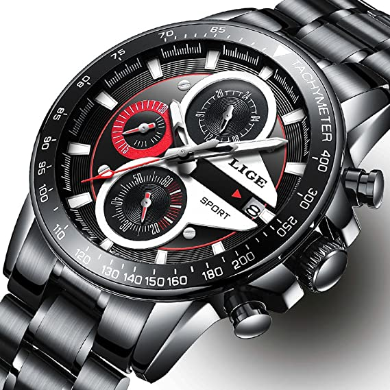 653cbff3fdce0 Watch Men Fashion Sport Quartz Clock Mens Watches Top Brand Luxury Full  Steel Business Waterproof Watch: Amazon.ca: Watches