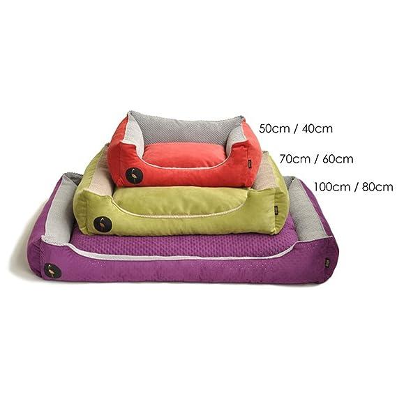Lauren Diseño Cama para Perros CEZAR 100 cm x 80 cm Negro Acolchada/Gris   sofá   Perros - Cojín para Perros   Dormir Espacio para Pequeños y Grandes Perros ...