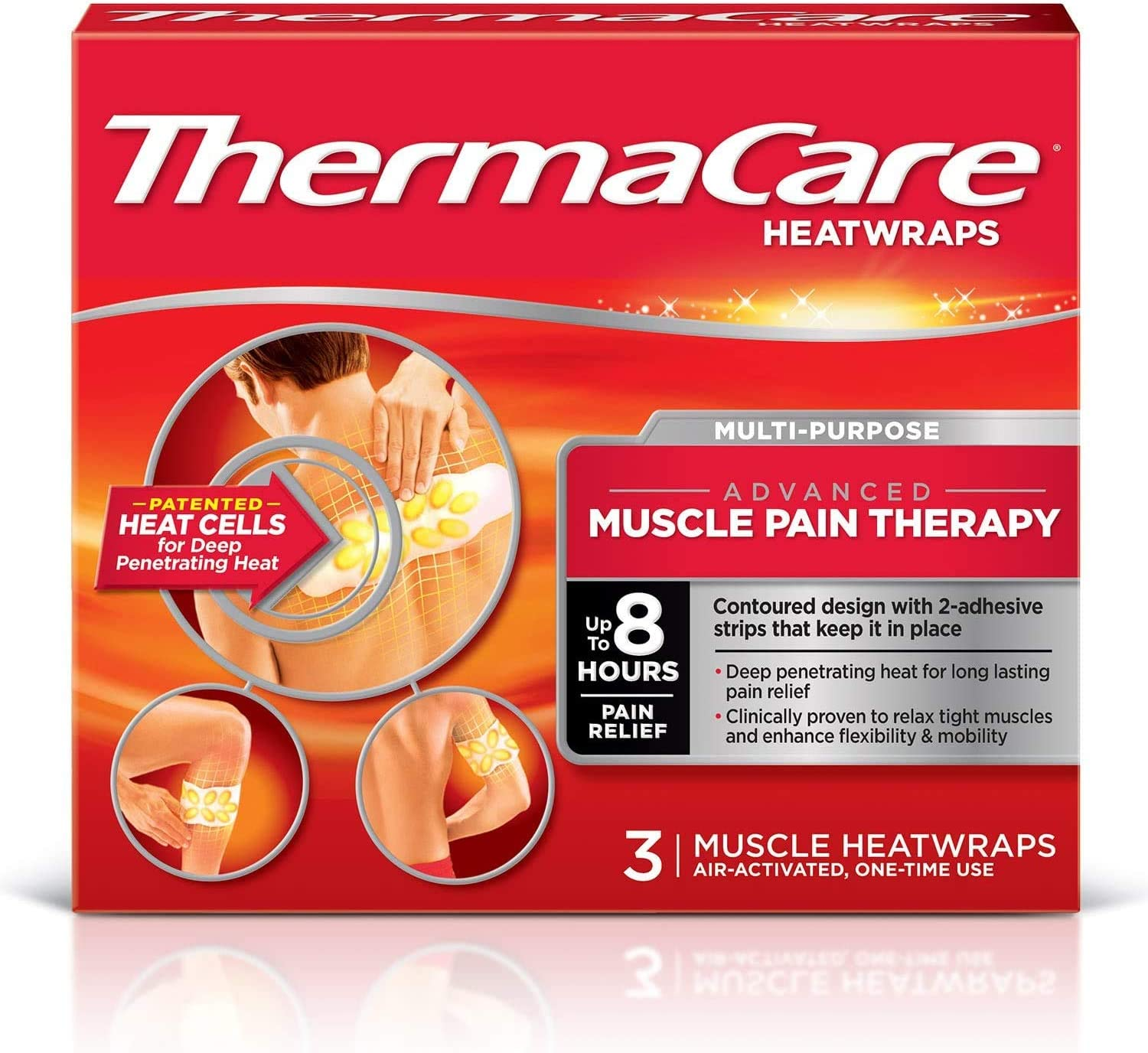 Amazon.com: ThermaCare Heatwraps Neck, Shoulder and Wrist, 3 Count (Pack of  3): Health & Personal Care