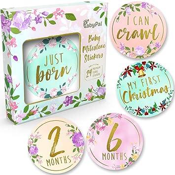 Keepsakes Original Baby First Year Monthly Stickers Set Milestone Gift Baby Shower Photoshoot Prop Keepsakes, Memory Books