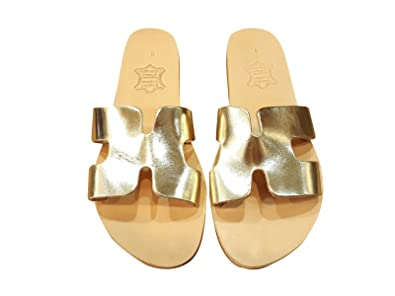 1548f59a4eb1 Ancient Greek Style Leather H Sandals Roman Handmade Womens Slide Shoes  Gladiator Spartan Hermes Summer Flat