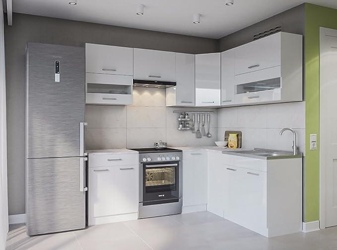 Eldorado de ángulo de Muebles Cocina Alina 230 x 170 Blanco Lacado L Forma de Cocina línea Esquina Cocina Block: Amazon.es: Juguetes y juegos