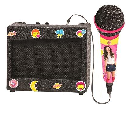 Soy Luna - Altavoz karaoke Disney con micrófono, niña (Lexibook K900SL)
