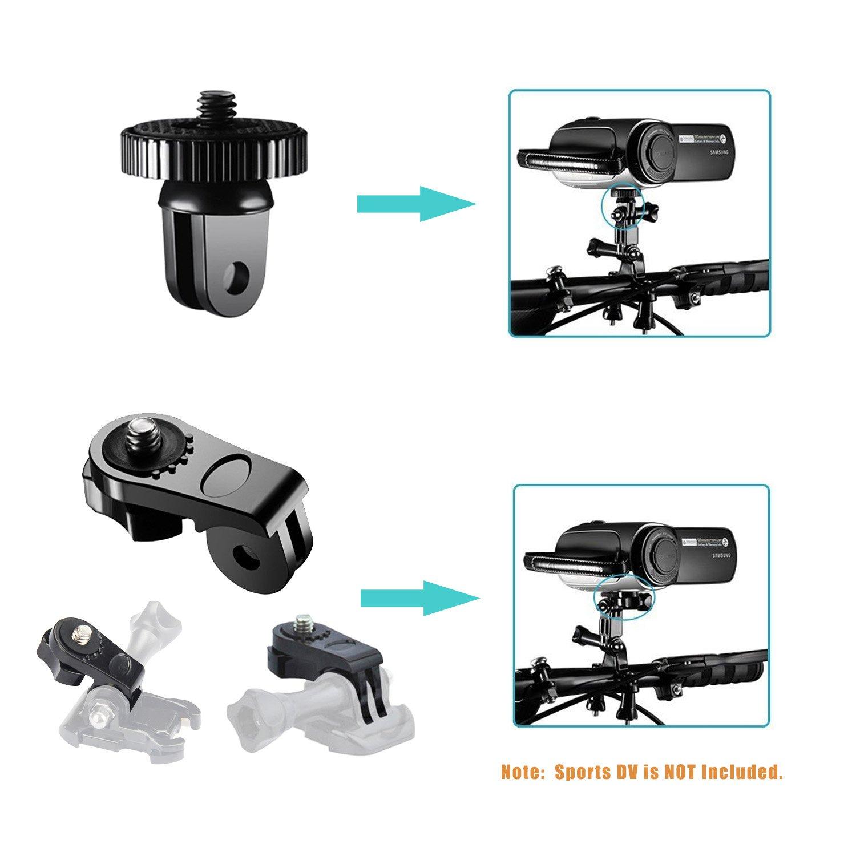 3 2 1 Campark ACT74 AKASO EK7000 Crosstour APEMAN DBPOWER FITFORT ENEK Acko Lightdow Sony Sports DV and More Followsun 52-in-1 Action Camera Accessories Kit for GoPro Hero//Session//Hero 6 5 4 3