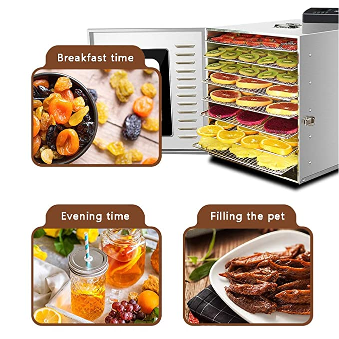 Secadora de alimentos, Deshidratador De Alimentos Redondo De 8 Bandejas, Máquina Eléctrica Profesional De Múltiples Capas Para La Conservación De Alimentos, ...