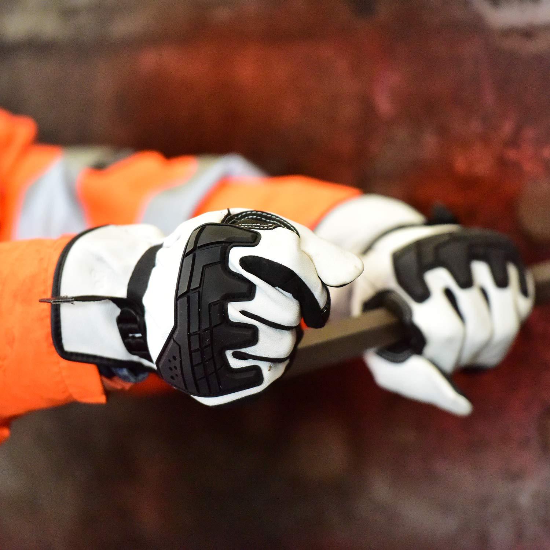 BLACK LARGE 8766-7405-06 Tourmaster Synergy 7.4V Battery Heated Leather Gloves